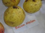 sounds like bacon melon.. which would make for an interesting apple flavor!